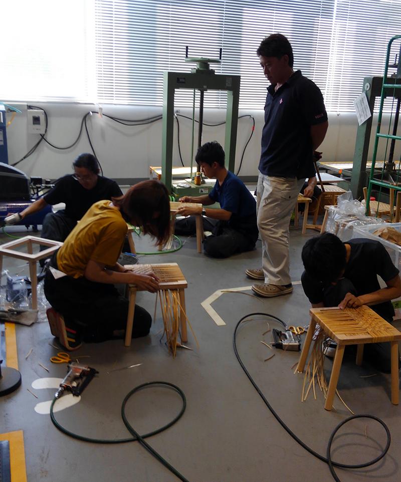 多摩美術大学での実技講習の様子