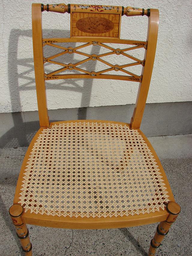 大塚家具様のイギリス製の椅子(カゴメ手編み)