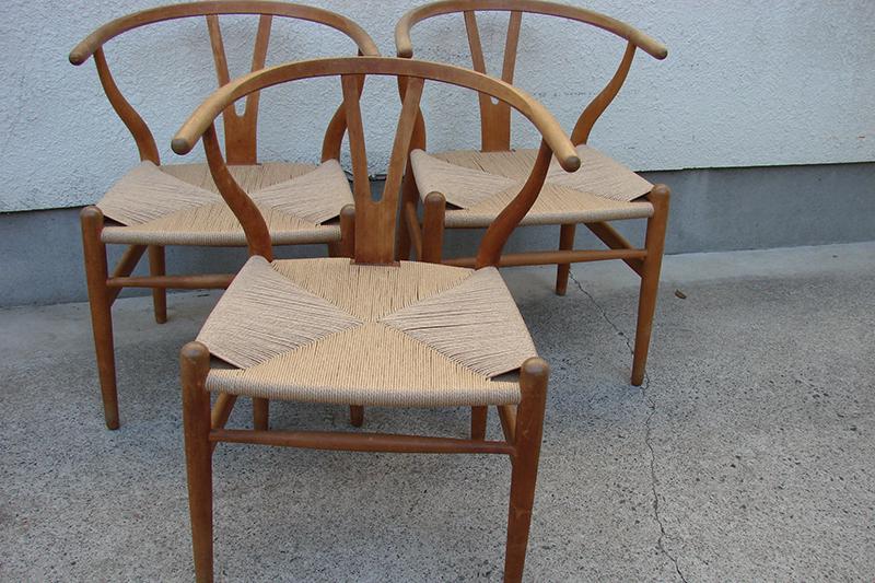 Yチェアをはじめとする個人様所有の籐椅子の修理